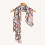 border print scarf-geometric print scarf-blog-blogger-ships from california