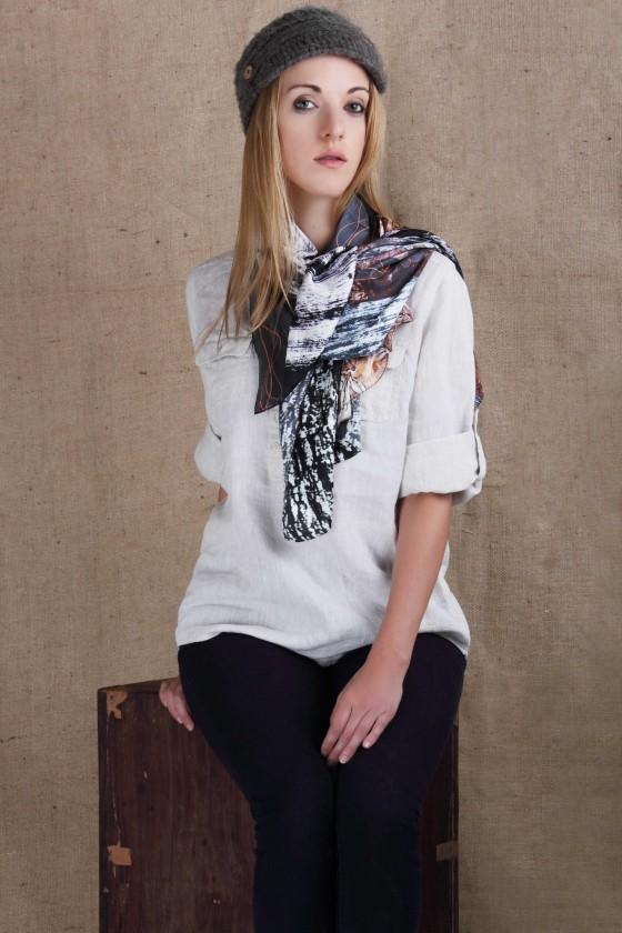 silk-scarf-habotai-silk-scarf-floral-print-scarf-forest-print-silk-scarf--designer-scarf--branded-scarf-black-and-white-scarf holiday2016 handmade
