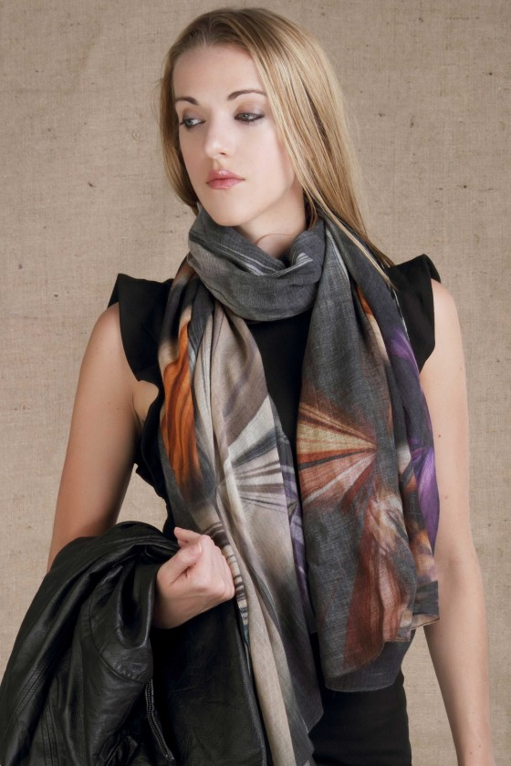 woolen-scarf-silk-scarf-silk-wool-scarf--abstract-print-scarf-multicolor-scarf-charcoal-color-scarf-designer-scarf-branded-scarf