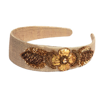 gorgeous-headband-beautiful-gotaembroidery-badla-floral-beige-rawsilk-puresilk-bestseller-freeshipping