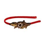 handmade-handcrafted-designer-indian-headband-pretty-velvet-red-gota-handwork