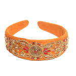 headband-camel-brown-suede-leather-embroidered-embellished-zardozi-indian-fashion