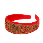 headband-red-suede-leather-pretty-zardozi-embroidery-handmade-crafted-indian-bestseller
