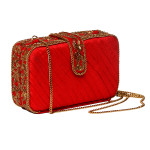 new-red-clutch-bag-purse-evening-party-wedding-collection-fallwinter2013-popular-trendy-hotseller-sexy-chainembroiderey-zardozi-goldwork-indianart-handmade-crafted-velvet