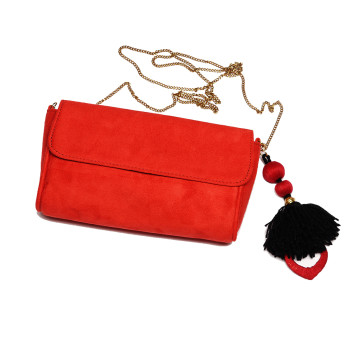 red-suede-clutch-purse-bag-slingbag-eveningbag-charm-hanging-red-indian-crafted-handmade-freeshipping-california-daywear-smartcasual-party-popular-branded-winter2013