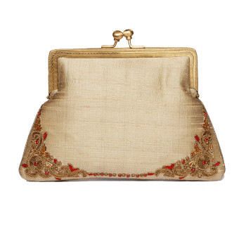 trendy-popular-purse-clutch-bag-evening-weddin-party-beige-100silk-rawsilk-slubsilk-emebllished-goldwork-designer-trendy-fashion-new-freeshipping-california-vintage