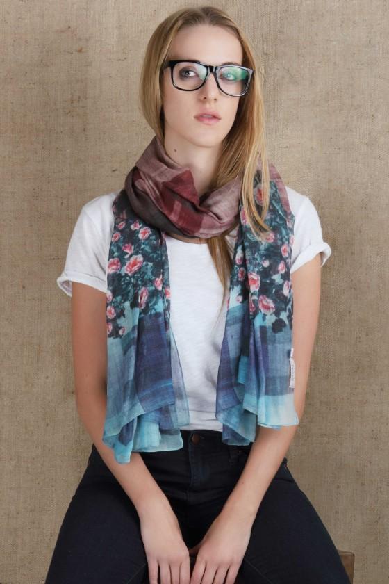 woolen-scarf-woolscarf-silkwool-scarf-floral-plaid-print-scarf-teal-color-scarf-burgandy-scarf-cold-weather-scarf-warm-scarf