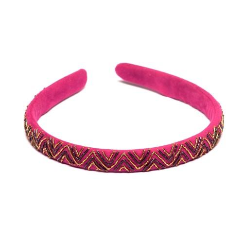 zardozi-embroidery-embellished-pink-velvet-hairband-popular-fashion-new-party-evening