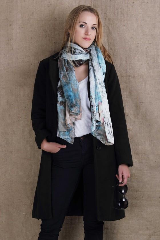 Silk-scarf,-blue-scarf--landscape-print--digital-printed-scarf--printed-scarf-designer-scarf--dolce-&-Gabbananna-womens-accessory