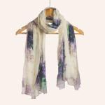 designer scarf- off white scarf- fall fashion scarf- trendy scarf- geometric print scarf- digital printed scarf-anthropologie