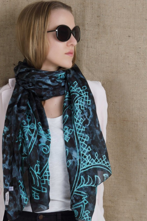 silk-scarf--soft-scarf--light-weight-scarf--animal-print-scarf--electric-blue-scarf--turquoise-scarf--henna-design-scarf--deisgner-scarf--printed-scarf