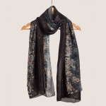 black-scarf-silk-designer-swan-luxury-online-shop-free-shipping