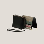 blackleather-vegan-clingpouch-innovativedesign-handmade-hand-crafted-fair-trade