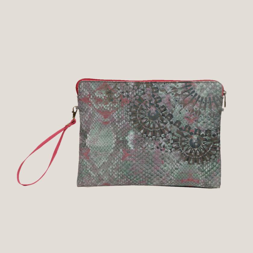 pink ipad unisex ipadcover printed vegan leather green