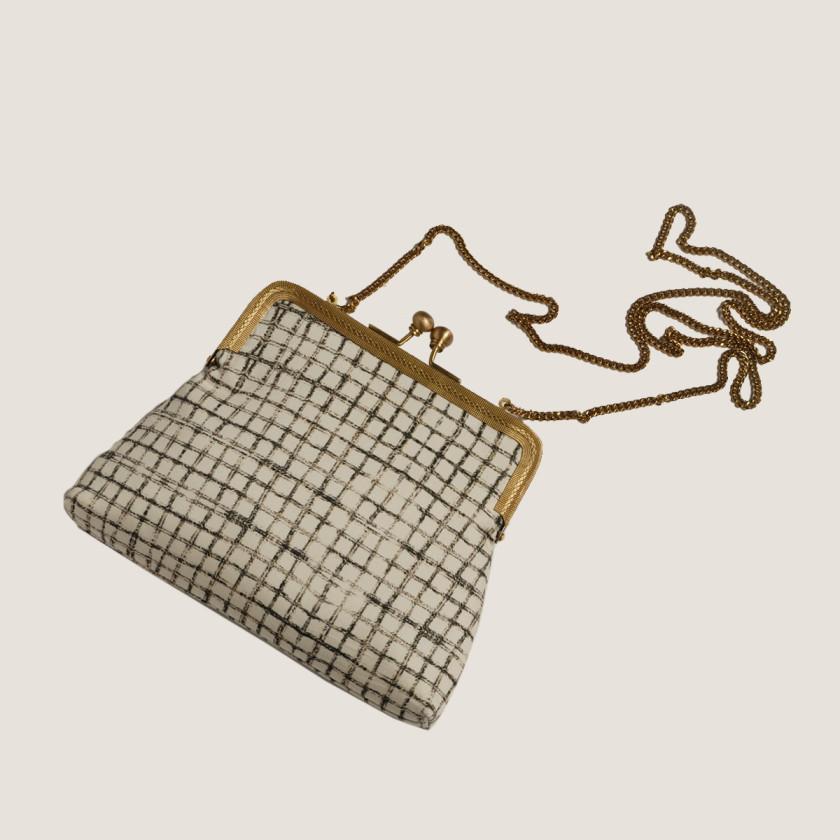 printedclutch plaidbag kisslock crossbody la usa fashion freeshipping crafted