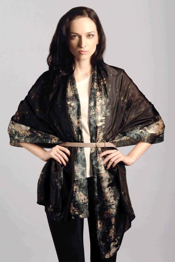 silk scarf longscarf hotseller infinity ikat indian print digital
