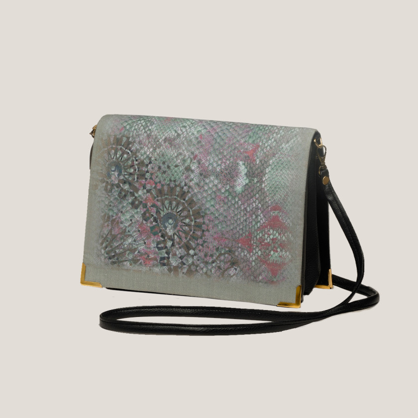 snakeprint prettypink designer digitalprint bag
