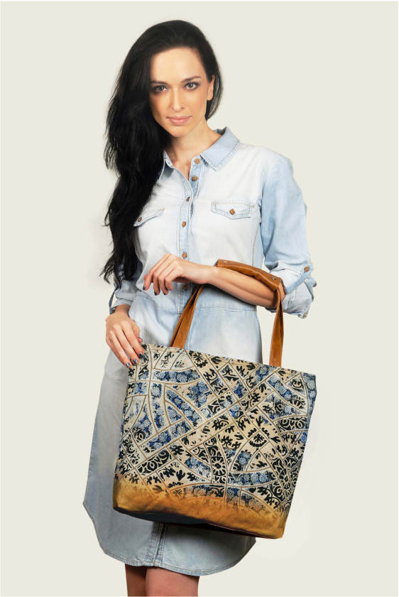summertote printed bag beach bluepottery indian print jaipur designer