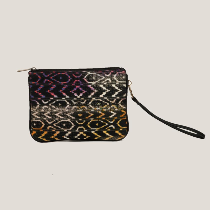 vegan leather clutch wristlet bohemianstyle fashionforward fair trade