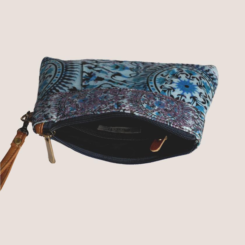 wristlet printedclutch springsummer beach clutch small purse floralprint-giftformom-giftforteacher-holiday2016-handmade-madeinusa-designergifts