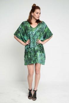 caftan-cruisewear-shortdress-tropicalprintdress-emeraldgreendress-dresstrend-luxuryfashion-maati-giftformom-giftforteacher-holiday2016-handmade-madeinusa-designergifts