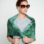 shiboriscarf-tropicalprint-emeraldgreenscarf-silkscarf-designerscarf-maati-Holidayshopping-holidaygifts-giftforher-blackfriday-cybermondaydeals-blackfridaydeals
